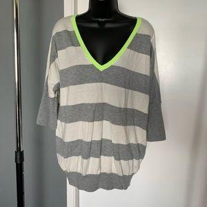 like nw Gap grey/cream/green stripe v nk top 6/$14